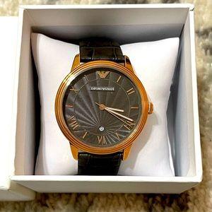Emporio Armani #AR1717 Genuine Leather Waist Watch